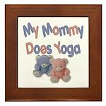 My Mommy Does Yoga Framed Tile