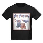 My Mommy Does Yoga Kids Dark T-Shirt