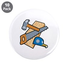 "Carpenter Tools 3.5"" Button (10 pack)"