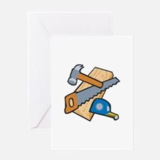 Carpenter Tools Greeting Cards