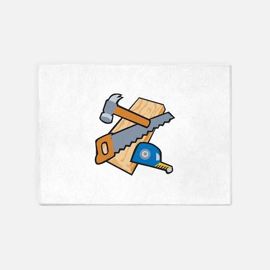 Carpenter Tools 5'x7'Area Rug