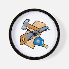 Carpenter Tools Wall Clock