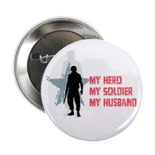 My Hero-Army Wife Button