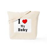 I Love Baby Tote Bag