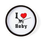 I Love Baby Wall Clock