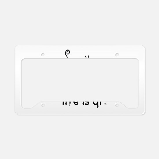 Life is Qi Mouse Acupuncture Moxa License Plate Ho