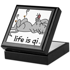 Life is Qi Mouse Acupuncture Moxa Keepsake Box