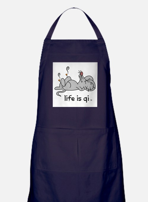 Life is Qi Mouse Acupuncture Moxa Apron (dark)