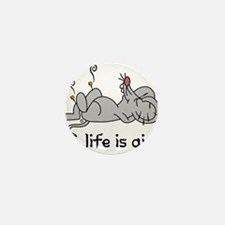 Life is Qi Mouse Acupuncture Moxa Mini Button