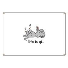 Life is Qi Mouse Acupuncture Moxa Banner