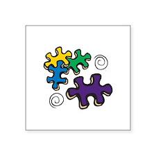 Jigsaw Swirls Sticker