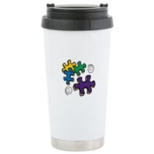 Jigsaw Swirls Travel Mug