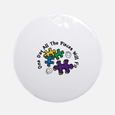 All the Pieces Ornament (Round)