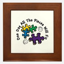 All the Pieces Framed Tile