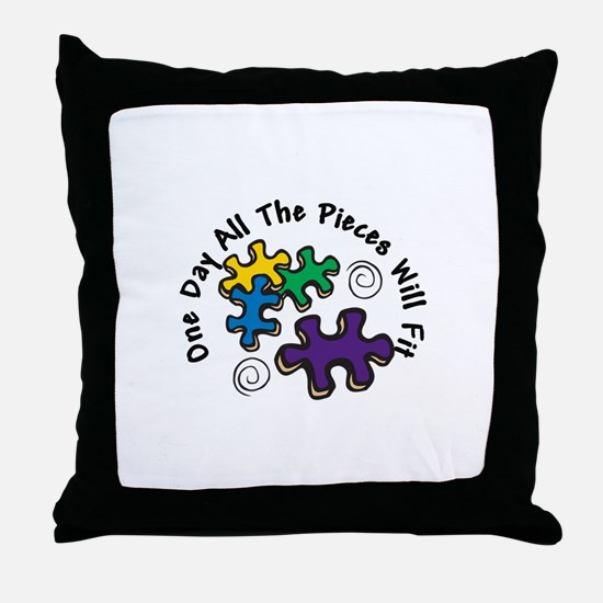 All the Pieces Throw Pillow