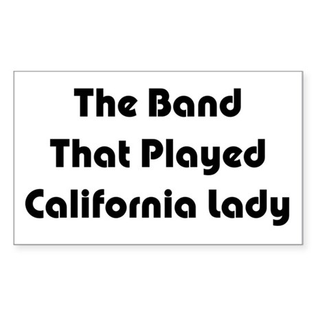 California Lady Rectangle Sticker