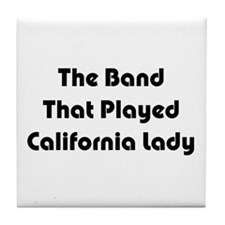 California Lady Tile Coaster