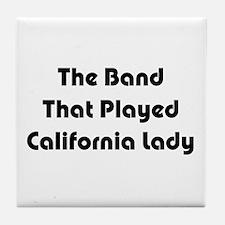California Lady Tile Coaster