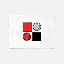 Checkers Pieces 5'x7'Area Rug