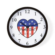 Party Girl USA Wall Clock