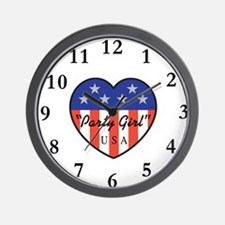 Party Girl USA Wall Clock