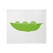 Peas Throw Blanket
