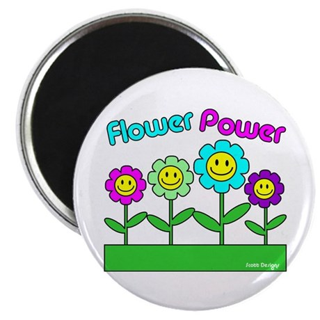 """Flower Power 2.25"""" Magnet (100 pack)"""
