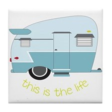 This Is The Life Tile Coaster
