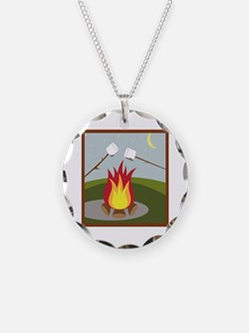 Roasting Marshmallows Necklace