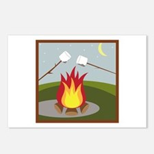 Roasting Marshmallows Postcards (Package of 8)