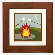 Roasting Marshmallows Framed Tile