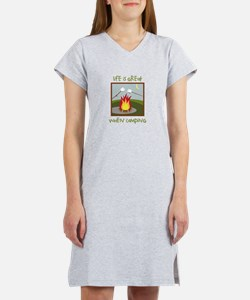 Life Is Great When Camping Women's Nightshirt