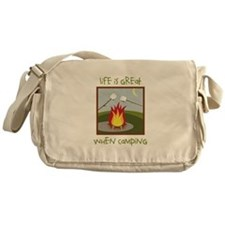 Life Is Great When Camping Messenger Bag