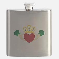 Claddagh Flask