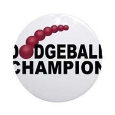Dodgeball Champion Ornament (Round)