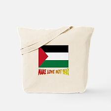*** Palestine Make Love Not War Tote Bag