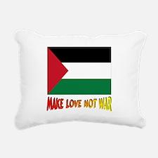 *** Palestine Make Love Rectangular Canvas Pillow