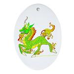 Kirin / Ki'lin /Qilin Oval Ornament