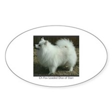 """American Eskimo"" Oval Decal"