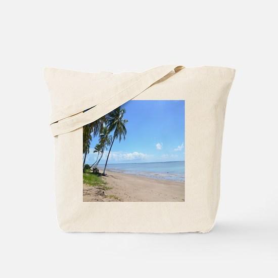 Beach Palm Trees Tote Bag