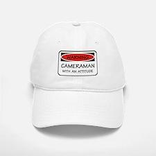 Attitude Cameraman Baseball Baseball Cap
