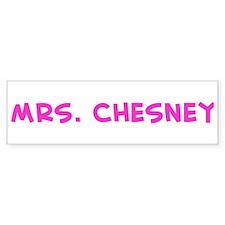 Mrs. Chesney Bumper Car Sticker