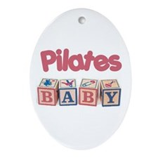 Pilates Baby #1 Oval Ornament