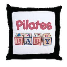 Pilates Baby #1 Throw Pillow