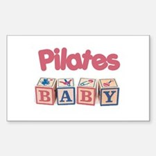 Pilates Baby #1 Rectangle Decal