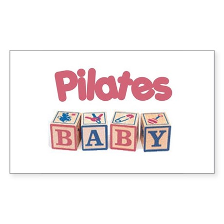 Pilates Baby #1 Rectangle Sticker