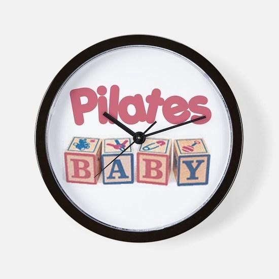 Pilates Baby #1 Wall Clock