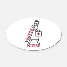 Visiting Nurse Oval Car Magnet