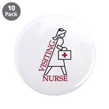 "Visiting Nurse 3.5"" Button (10 pack)"