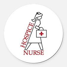 Hospice Nurse Round Car Magnet